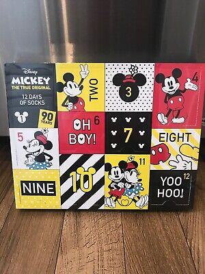 Mickey Mouse 12 Days of Socks 90th Anniversary Womens Christmas Advent Calendar