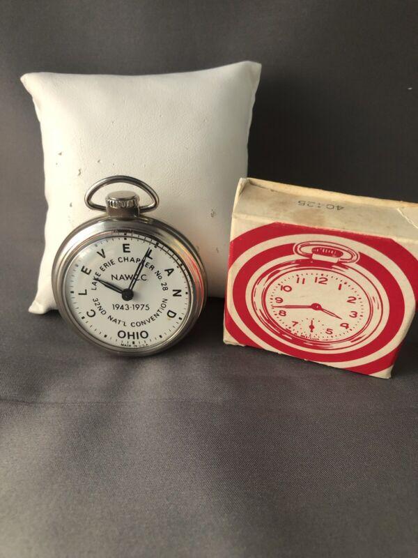 Vintage Lake Erie Chapter No. 28 Ohio Running Pocket Watch w/ Box