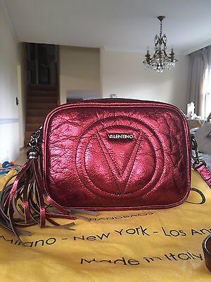VALENTINO BY MARIO VALENTINO  Mia Metallic Marsala  Leather Crossbody bag