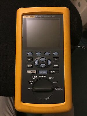 Fluke Dsp-4000 Cable Analyzer Dsp-4000 Good Working Replacement