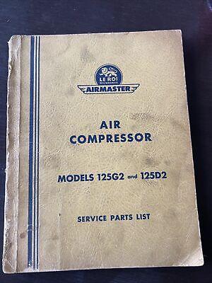 Parts Manual Leroi 125g2 125d2 Air Compressor Book Catalog List Guide Shop