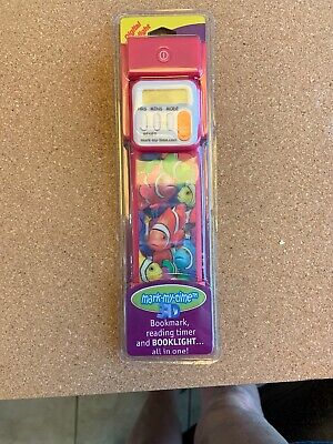 NWT Mark-My-Time 3D Bookmark, Reading Timer, Booklight - Fish & Butterflies](Bookmark Timer)