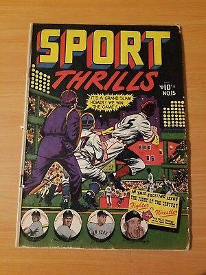Sport Thrills #15 ~ GOOD - VERY GOOD VG ~ (1951, STAR Comics)