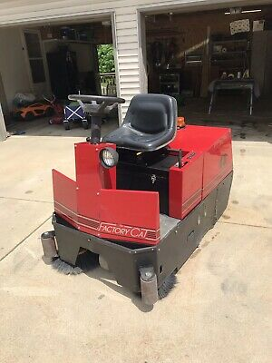 Factory Cat 48 Industrial Electric Ride On Sweeper