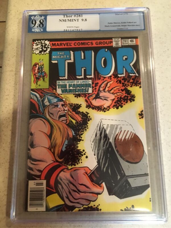 """Thor #281 9.8 PGX not CGC (Mar 1979, Marvel) """"This Hammer Lost!"""" Avengers"""