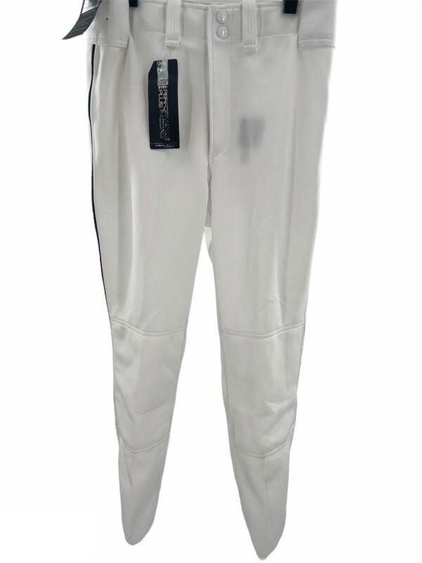Mizuno Youth 2XL White w royal piping Baseball Pants Performance Plus Padding