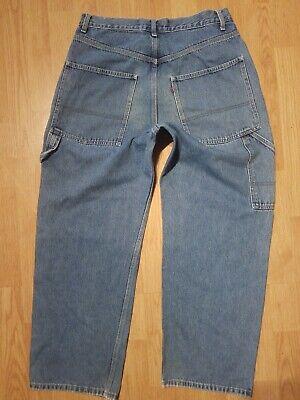 Levis Levi's CARPENTER Style Blue Jeans 32x29 Distressed  Carpenter Style Jeans
