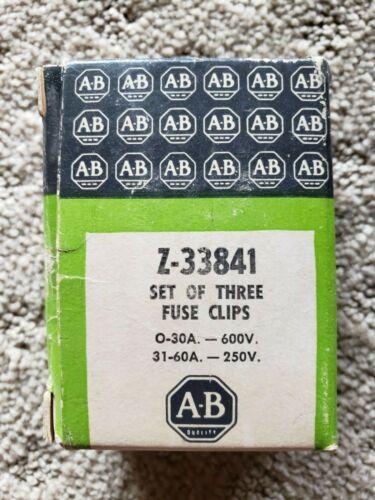 Allen Bradley Z-33841 Fuse Clips set of 3