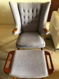Armchair and Ottoman Set