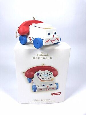 2009 Hallmark Fisher Price Chatter Telephone Keepsake Ornament Toy Phone.