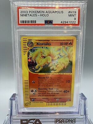 🔥 Ninetales Holo - Pokemon Aquapolis Set - PSA 9 - MINT🌱