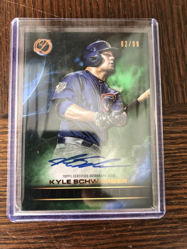 2016 TOPPS Legacy KYLE SCHWARBER Chicago Cubs AUTOGRAPHED CARD 82/99 Signed