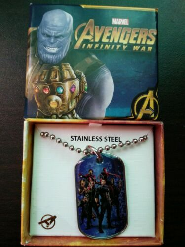 Marvel's Avengers Infinity War Dog Tag stainless steel 20 in