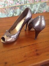 NUDE brand silver snakeskin detail pumps size 41 Peregian Beach Noosa Area Preview
