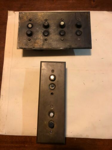 Vintage Push button switches with brass covers