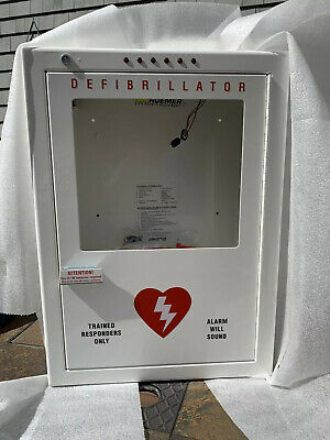 New Philips Premium Aed Cabinet Large Surface-mount W Audible Alarm Strobe
