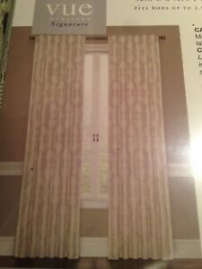 NEW!!! 2 NEW IVORY CURTAIN PANELS (STILL AVAILABLE)