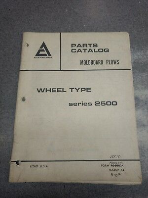 Allis Chalmers 2500 Series Plow Parts Manual 79004719