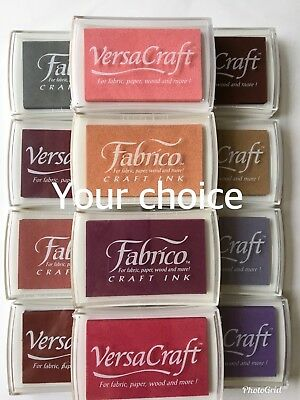 VersaCraft/Fabrico Ink pad Fabric, Wood, Paper, Shrink Plastic (Your Choice)-NEW