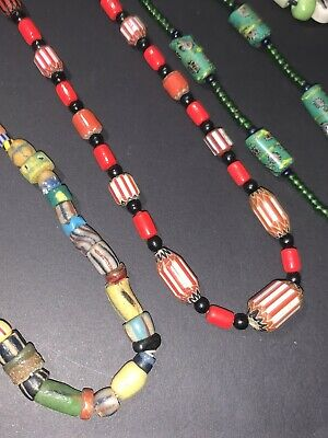 Orange /& Brown Glass Beads Necklace from Bali Indonesia Fair Trade Jewellery