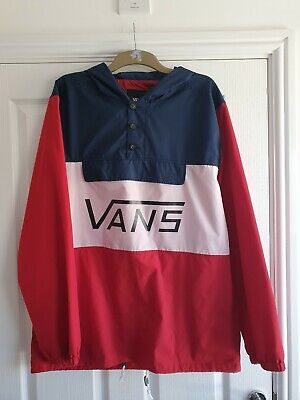 Vans Tricolour Windbreaker Jacket Size Xl