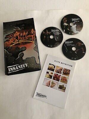 Beachbody Insanity 13-Disc DVD Set Workout Exercise 60 DAY TOTAL BODY w/ BOOK