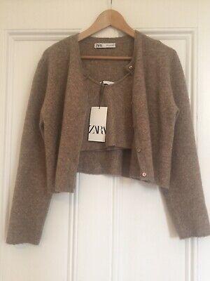 Zara Knitted Cardigan Bra  Co-ord  Katie Holmes Khaite