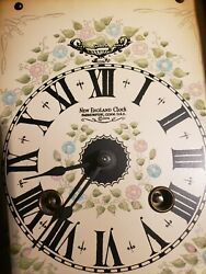 Vintage New England Clock Co.Mantle Clock Franz Hermle Wind-up Movement