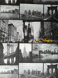 4 rolls of new york city black and white wallpaper ebay for New york wallpaper rolls