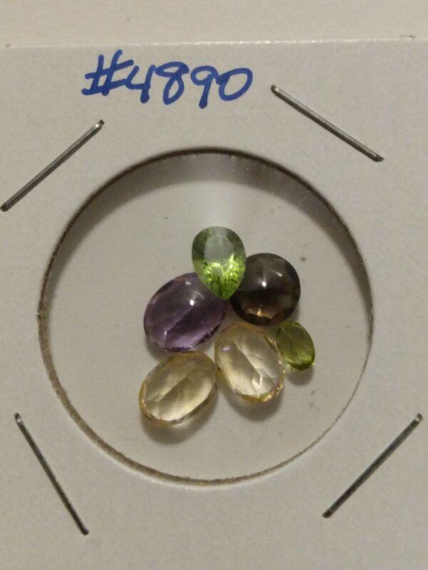 (6) Loose Gemstones For Jewelry Or Fun