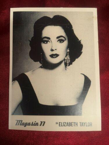 VINTAGE ELIZABETH TAYLOR PHOTO CARD BY MAGAZINE 11