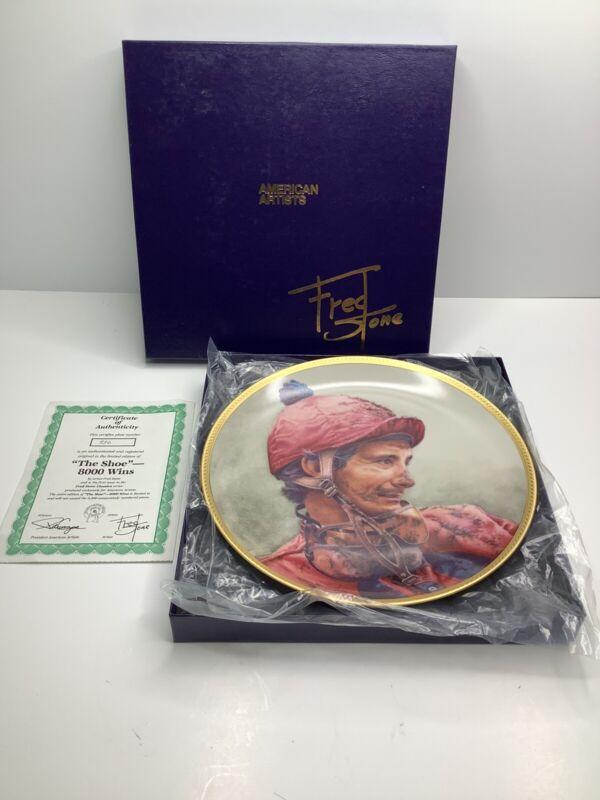 FRED STONE The Shoe - 8,000 Wins Collectors Plate #936 COA