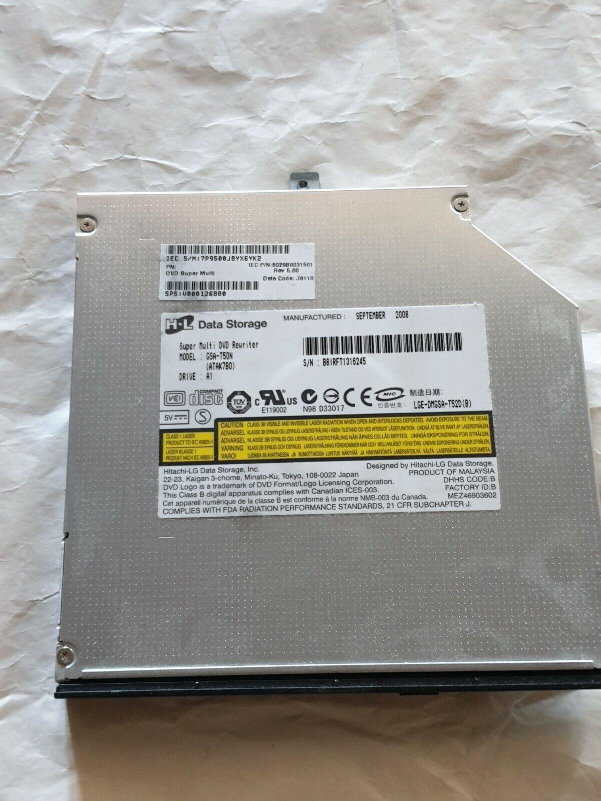 Lecteur dvd cd gsa-t50n pour pc portable