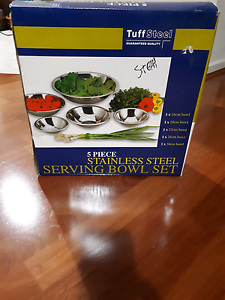 Brand New 5piece St.steel Serving Bowl Set Bassendean Bassendean Area Preview