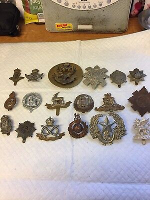 LOT 3 OF 18 MIXED MILITARY BADGES