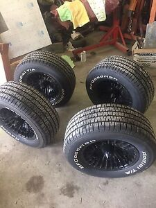 4 BF Goodrich radial T/A tires for sale with rims