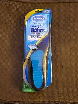 Dr. Scholls Men's Massaging Gel Work Insoles - Size 8-13 One -