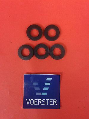 """Gummi-Dichtung f. Überwurfmuttern schwarz 8 x 15 x 3mm 3/8"""" 5 Stück"""