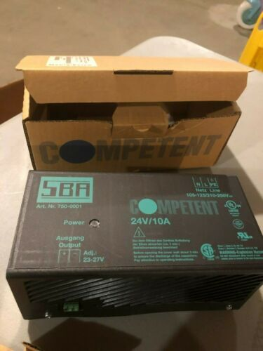 SBA Competent 750-0001 Power Supply New