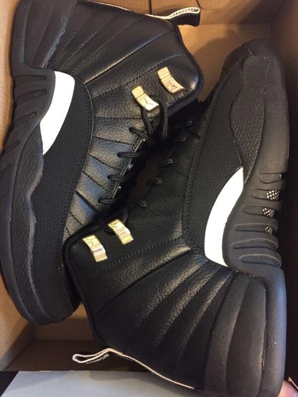 Nike Air Jordan Retro 12 THE MASTER Youth BIG Kids G.S Black Rattan White Metallic Gold 153265-013 (6.5) Air Jordan 12 Retro BG