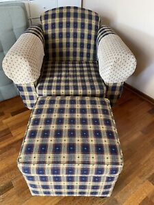 Free couch arm chairs, poufs