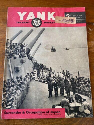 WW2 - YANK Army weekly October 5, 1945 Vol.4 No. 16 Japan Surrender USS Missouri
