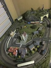 Complete HO SCALE model train set layout with rolling stock Woodcroft Blacktown Area Preview