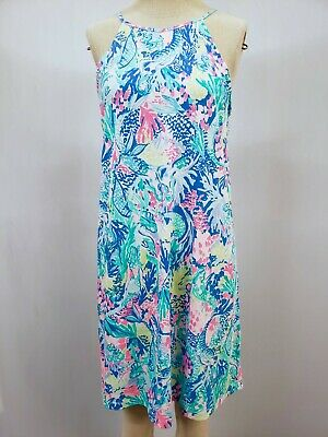 "New Lilly Pulitzer Women's Margot Dress ""Mermaid Cove,"" XXS-XL"