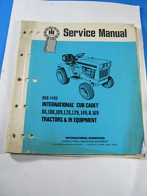 International Ih Cub Cadet Tractor Service Manual