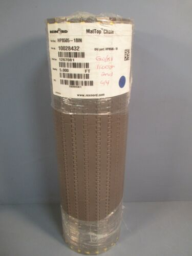 REXNORD MatTop Conveyor Chain 5ft HP8505-18IN