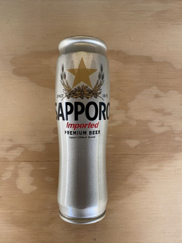 Sapporo Silver Can Draft Beer Tap Handle, Nice!