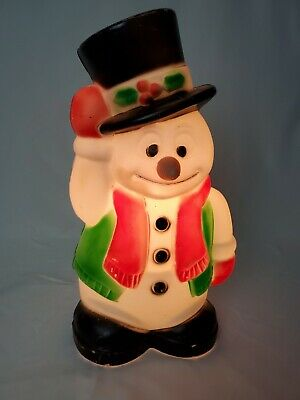"""Vintage 18"""" Empire 1996 Frosty Snowman Blow Mold with Waving Snow Man & Top Hat"""