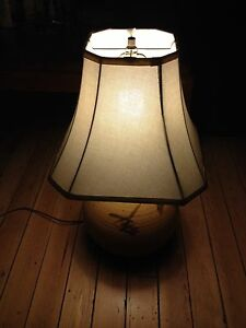 Clay table lamps w/ Shades and Bulbs