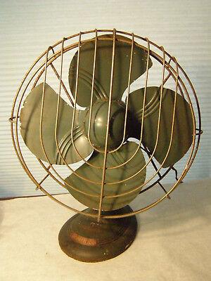 Vintage Heavy Dominion Electric Fan Model 2015 Oscillating WORKS